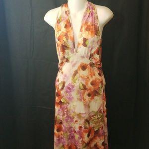 NWT Peppe Peluso long maxi halter dress sz Small